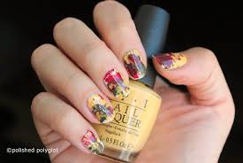 Red And Yellow Nail Designs Nail Art Red Yellow Green Splatter Nail Design With