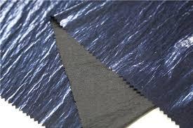 fashion clothes pu leather faux leather pearl blue coated pu leather material