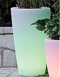 tall vase lighting garden. Solar Illuminated Planter, Tall Vase Lighting Garden