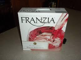 white zinfandel, wine, box wine, Franzia