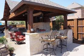 the weather is perfect for enjoying time outdoors both during the day and at night outdoor kitchens and living