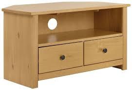 ex display argos home porto solid wood corner tv unit oak effect