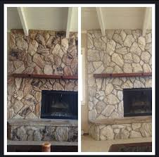 this one has alien faces too whitewashing might be my answer before and stone fireplace
