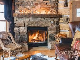remade in montana cabin fireplacerustic fireplace mantelsfireplace designfireplace stonewood rustic stone fireplace mantels b23 mantels