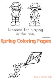 Spring Coloring Pages Simple Fun For Kids