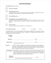 Paid Time Off Request Form Template Tracker Jasonwang Co
