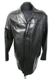 men s banana republic leather coat size large
