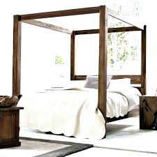 Wood Canopy Bed Frame Queen Beds Four Poster 4 For Sale Black Wooden ...