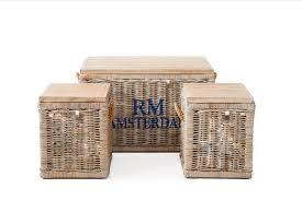 Rivièra Maison Rustic Rattan Plantation Trunk, Set of 3, White - Here!