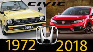 Honda Civic Design Evolution Honda Cİvİc Evolutİon 1972 2018 Honda Civic Tarihi