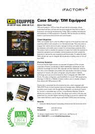 Tjm Design Corp Case Study Tjm Equipped By Ifactory