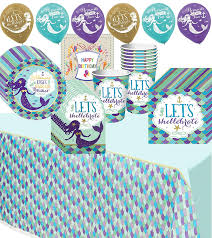 Amazon.com: Wishful Mermaid Party Supplies Cups Plates Napkins Balloons and Tablecover Pack Bundle: Health \u0026 Personal Care