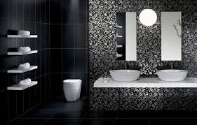 Interior Of A Modern And Contemporary Bathroom Colored In Black Modern Bathroom Colors