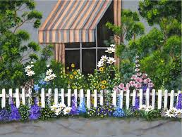 flower bed fence cozy popular top garden picket design