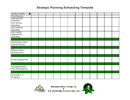 schedule plan template 19 strategic planning scheduling template