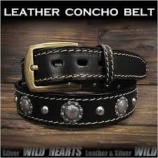 genuine leather concho belt biker belt pin buckle black wild hearts leather silver id lb3771t40