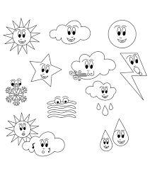 Weather symbols part 1 (colour). Top 10 Free Printable Weather Coloring Pages Online