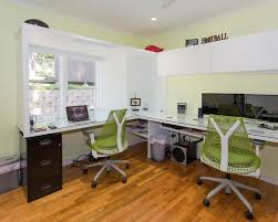 custom office desks for home. Amazing Modern Home Office Design With Beautiful Custom Double Desk And Lovely Natural Color Desks For O