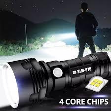 Đèn Pin LED Siêu Sáng Mdujin Đèn Chống Nước Sạc USB Siêu Sáng Dùng Cắm Trại