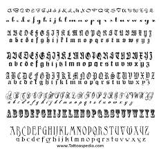 Letters For Tattoos Names Template Interesting Tattoo Lettering Templates 28