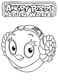 Small Picture Angry Birds Star Wars the Beautiful Princess Leia Coloring Pages