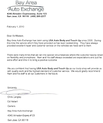 Letter Of Recommendation Mechanic Letters Of Recommendation From Auto Dealers Usa Touch Up