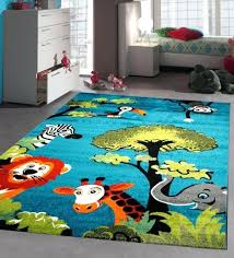 blue nursery rug blue nursery rug soft baby bedroom carpet children play room mat jungle animals blue nursery