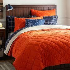 Finley Solid Quilt + Sham, Orange | PBteen & Finley Solid Quilt + Sham, Orange Adamdwight.com