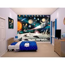 Space Bedroom Wallpaper Walltastic Space Adventure Wallpaper Mural Toys R Us
