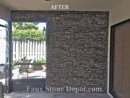 24 faux stone in charcoal before