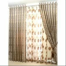 96 inch tension curtain rod allen roth in mink wood spring magnificent