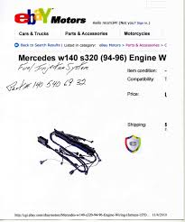1995 s320 engine wire harness img008 jpg