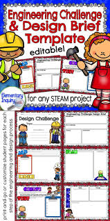 Engineering Design Brief Stem Challenge Design Brief Template And Student Pages