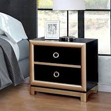 Image Drawer Nightstand Furniture Of America Lopex Contemporary Twotone Blackgold 3drawer Nightstand Amazoncom Amazoncom Furniture Of America Lopex Contemporary Twotone Black