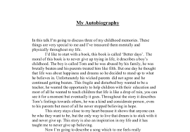 a biography essay about yourself autobiographyof me short example