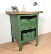 vintage green metal cabinet 1970s
