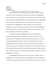 two kinds essay sanogo catannian engl liane lemaster two  5 pages synechdoche ny eng 1102