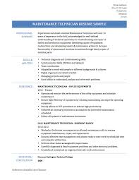 Apartment Maintenance Technician Resume Templates New Switch