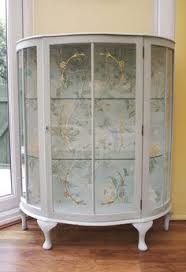glass cabinet furniture. Glass Display Cabinet Painted In Annie Sloan ROCOCO (Old White/Duck Egg Blue) Furniture