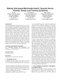 PDF) Making web-based multimedia health tutorials senior-friendly: Design  and training guidelines