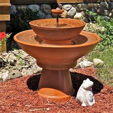 make your own clay pot water feature