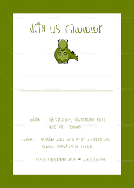 Dinosaur Birthday Invitation Dinosaur Birthday Party Invitation Template