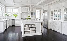 white cabinets dark floors. Delighful Floors Dark Wood Floors White Cabinets U2014 Zachary Horne  Homes In O