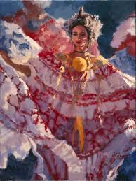 la reina is another painting of the beautiful r from santa domingo