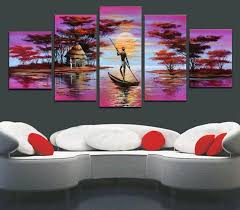 >2018 framed oil painting canva big size abstract african purple  2018 framed oil painting canva big size abstract african purple landscape quality hand painted modern home office hotel wall art decor free ship from
