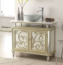 38 inch bathroom vanity vessel top mirrored style champagne gold 38 5x18x32 5 h chfz250