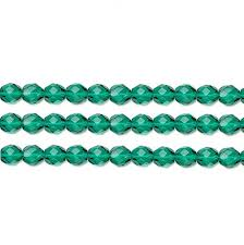 czech faceted round fire polished glass beads preciosa teal 4mm 16 inch strand