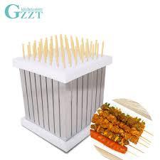 <b>GZZT</b> BBQ Kebab Maker Skewers Barbecue <b>Meat Beef</b> 64 Holes ...