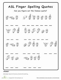American Sign Language Alphabet Worksheets Education Com