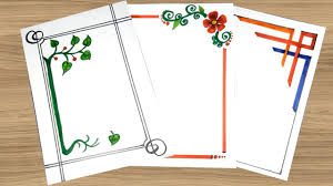 Simple Product Design Projects Simple Border Designs On Paper Border Designs Project Work Designs Borders For Projects